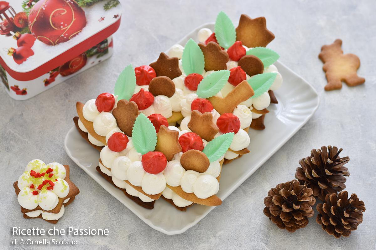 cream tart di Natale fatto in casadiso