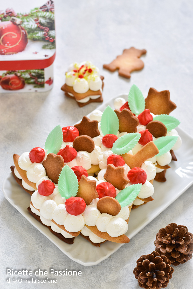 cream tart di Natale fatto in casa