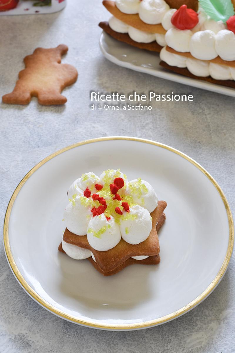 cream tart stella di natale monoporzione