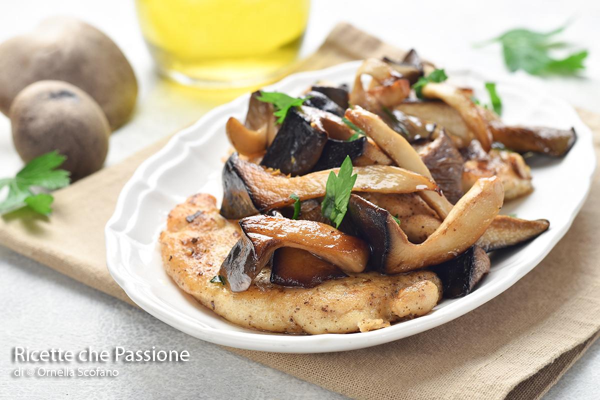 ricetta petti di pollo con funghi cardoncelli