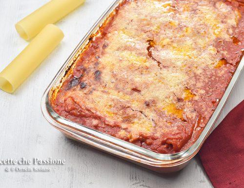 Cannelloni al forno con carne e spinaci