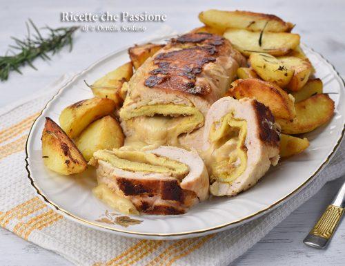 Rollè di pollo con patate in padella