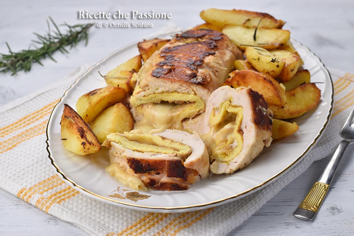 rollè di pollo arrosto in padella ricetta pollo ripieno