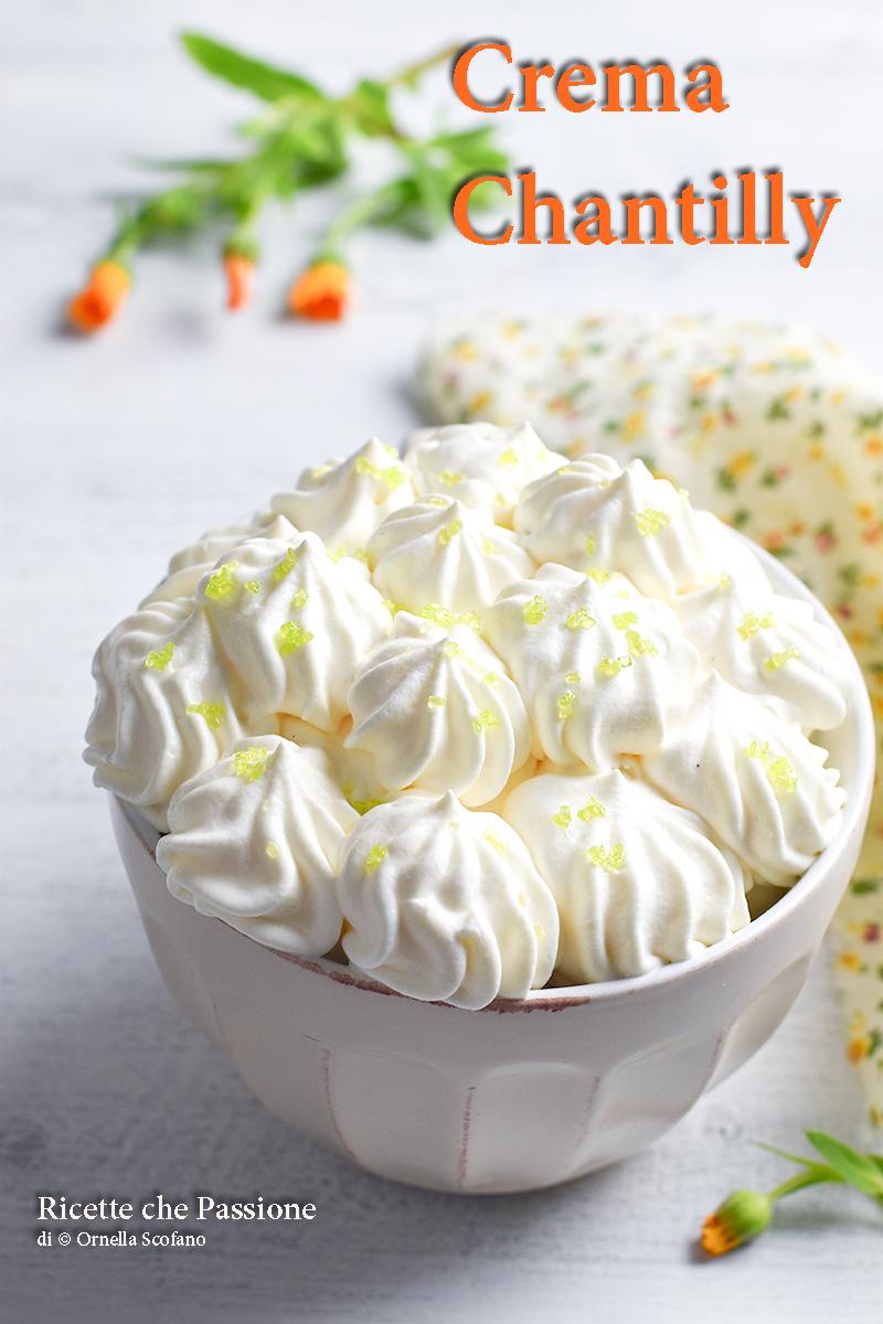 crema chantilly ricetta veloce e perfetta