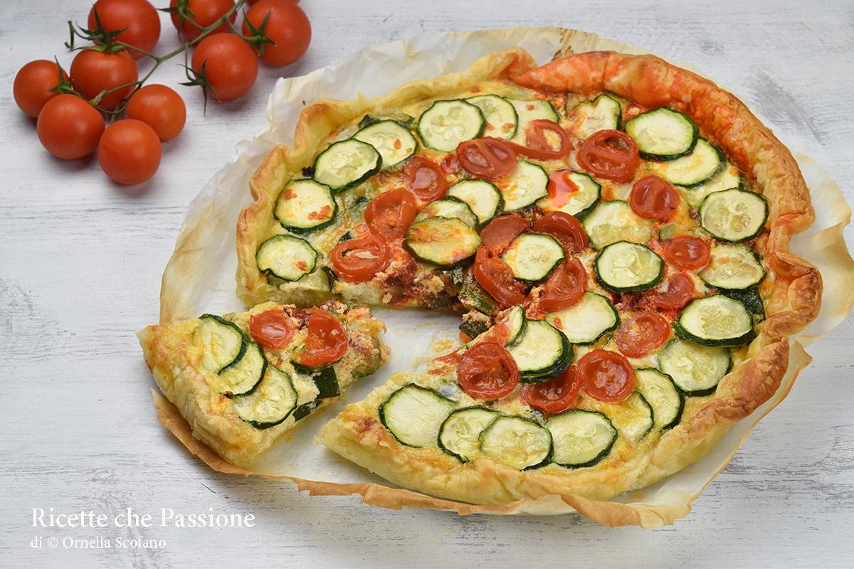 torta salata con zucchine ricotta e 'nduja