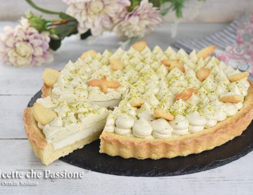 Crostata con ricotta e pistacchio