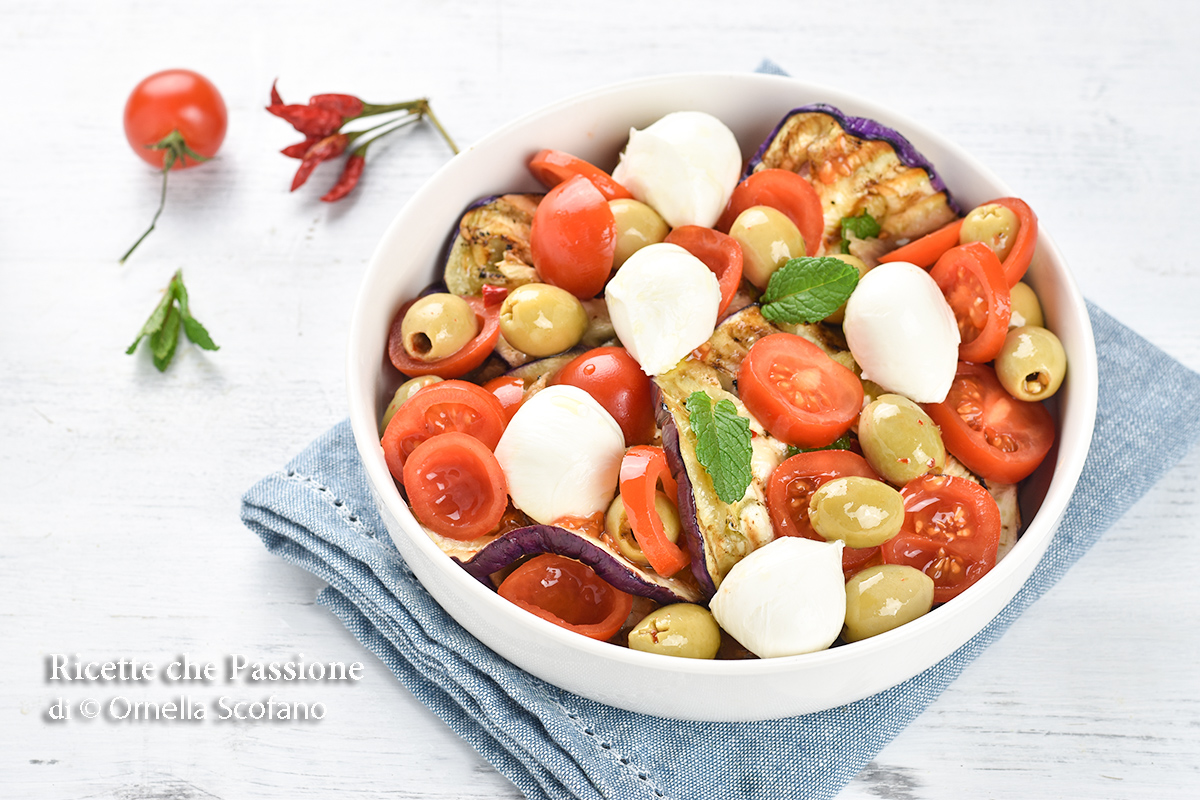 ricetta con melanzane grigliate alla mediterranea