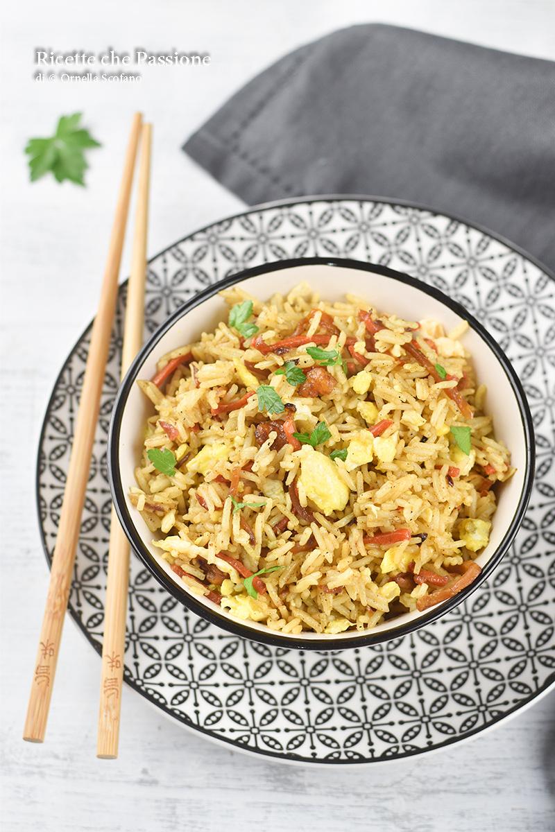 cena leggera con riso basmati alla salsa di soia con verdurine e gamberetti