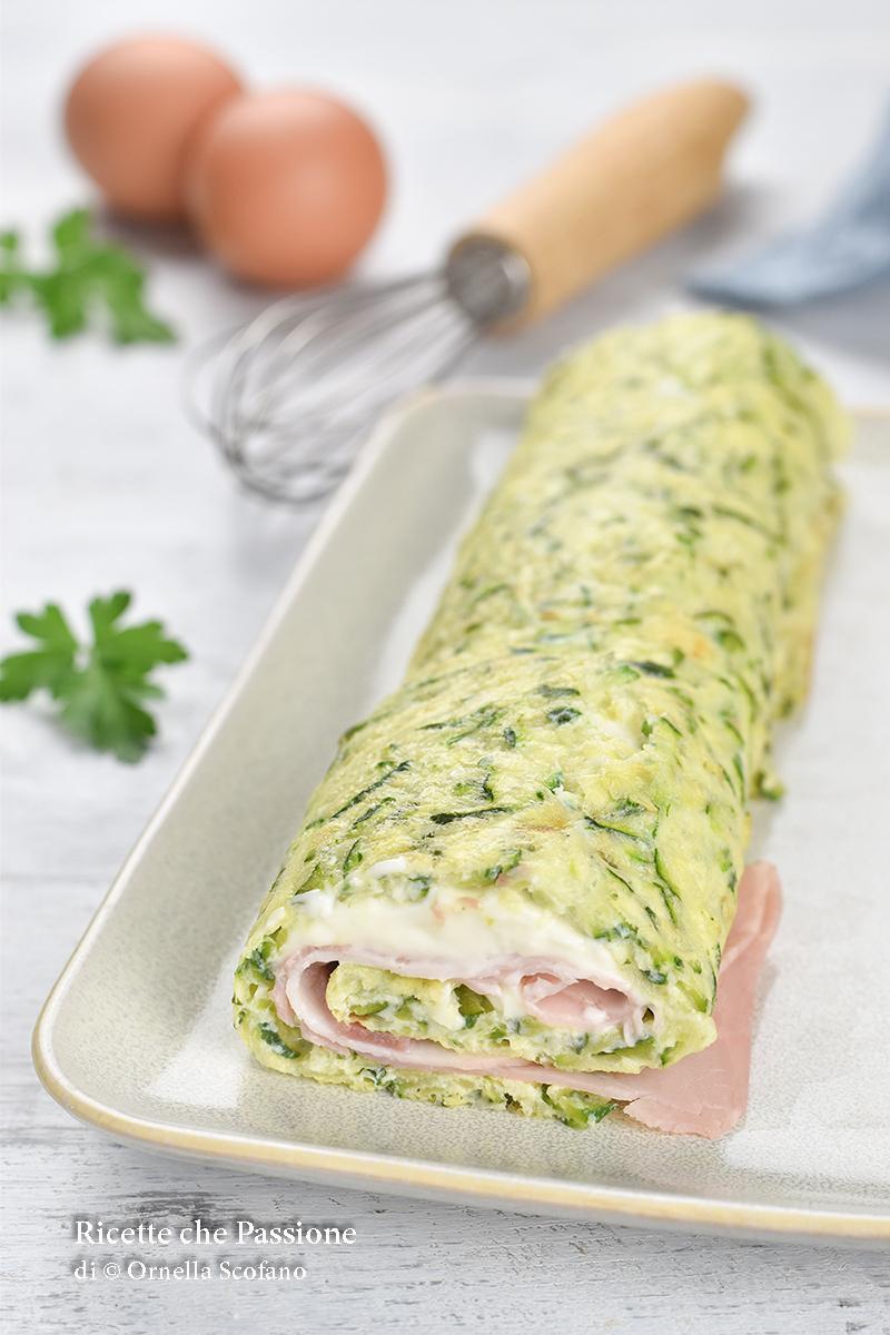 leggero e sfizioso il rotolo di zucchine co nstracchino e prosciutto cotto