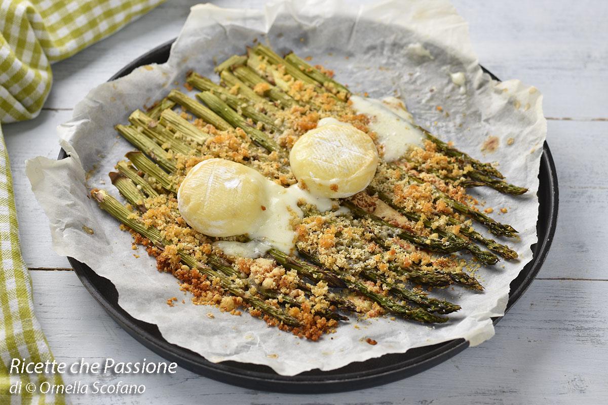 ricetta con asparagi gratinati al forno con tomino