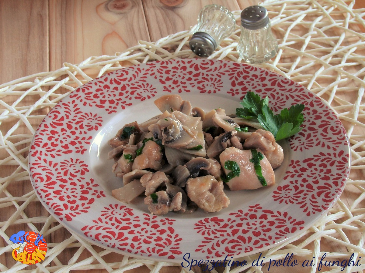 Spezzatino di pollo ai funghi