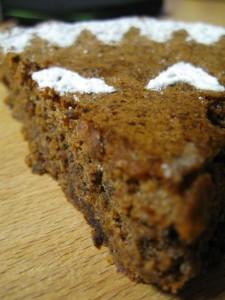 Fetta della torta di noci dell'Artusi