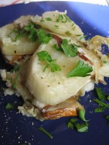 Millefoglie di patate e porcini