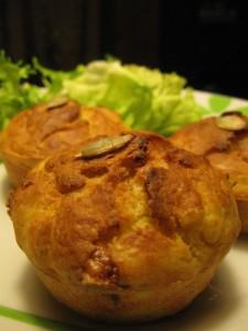 Muffin salati alla zucca e formaggio