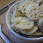 Aperitivo finger food con mousse di prosciutto cotto e di cavolfiore