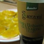 Aceto balsamico di Modena verde I.G.P. dell'acetaia Guerzoni