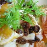 Insalata di arance, finocchi e uvetta con aceto balsamico