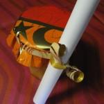 Marmellata di arance confezionata con carta e nastro della Star Pennsylvania