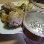 Cosce di pollo alla birra e mele renette