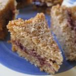 Plum-Cake al caffè con conettura di more