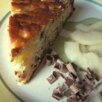 Torta ricotta e pere con cioccolato gianduja