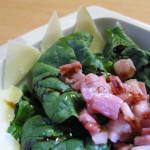 Insalata di spinaci con guanciale, Parmigiano e aceto balsamico