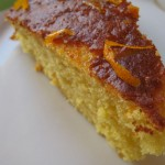 Fetta di torta alle arance