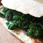 Panino con 'nduja e broccoli