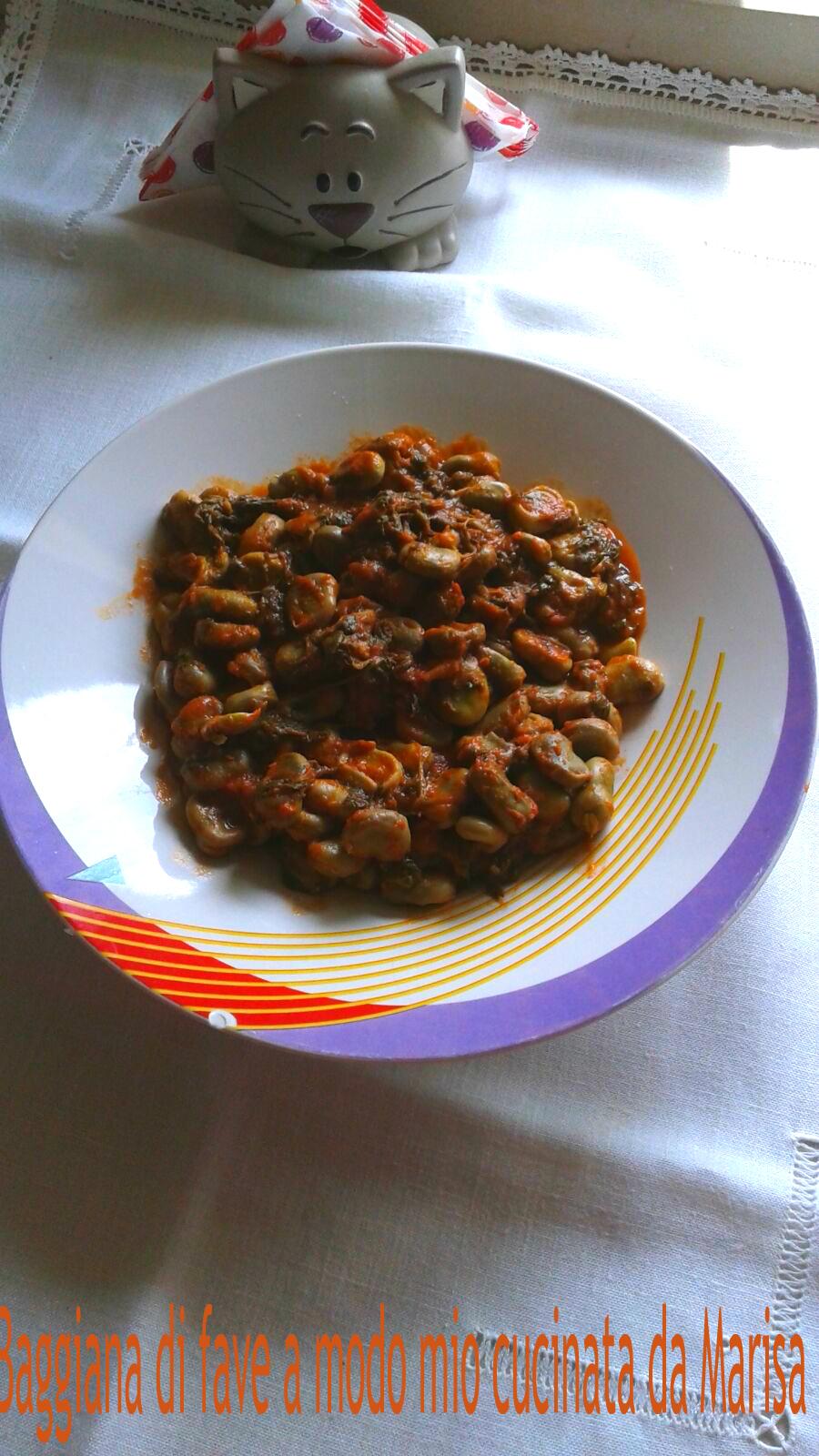 Baggiana di fave a modo mio cucinata da Marisa