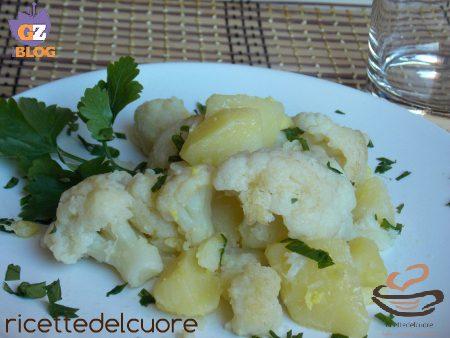 Cavolfiore e patate, saltati allo zenzero fresco