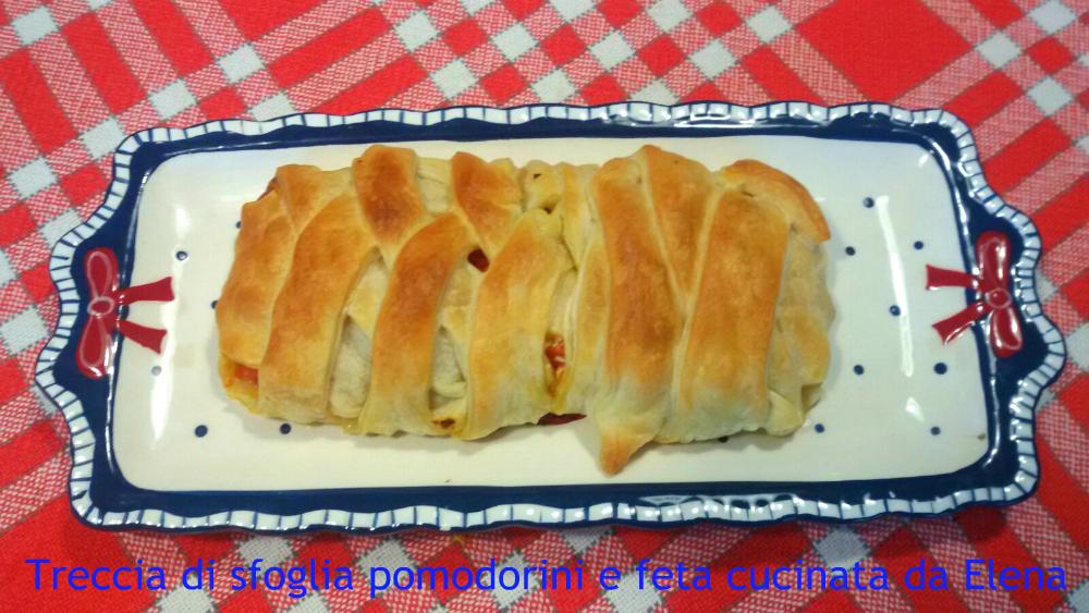 treccia di sfoglia pomodorini e feta cucinata da Elena
