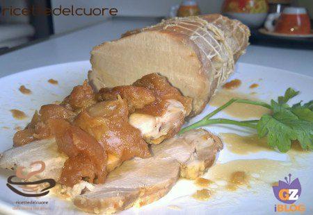 Arista di maiale alle mele e passito di Pantelleria