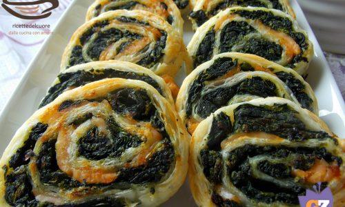 Mulinelle di sfoglia spinaci e salmone