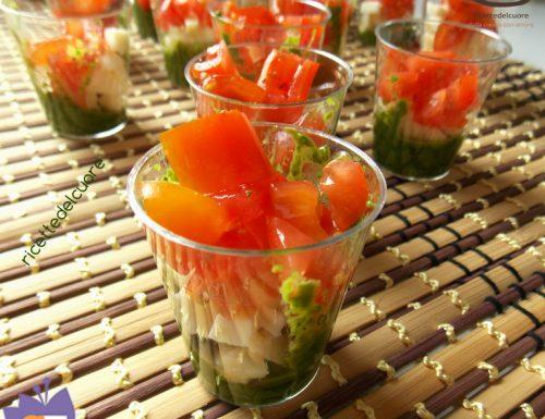 Finger pomodorini mozzarella e salsa di rucola