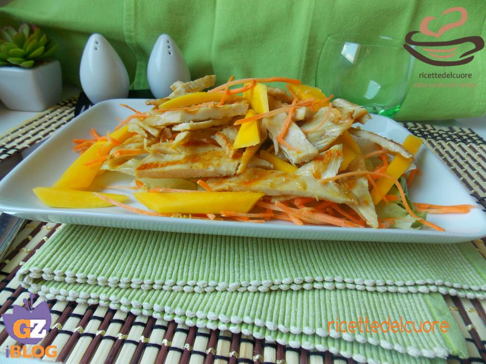 Insalata di pollo  carote e mango
