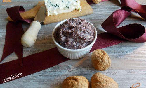 Salsa radicchio rosso noci e gorgonzola