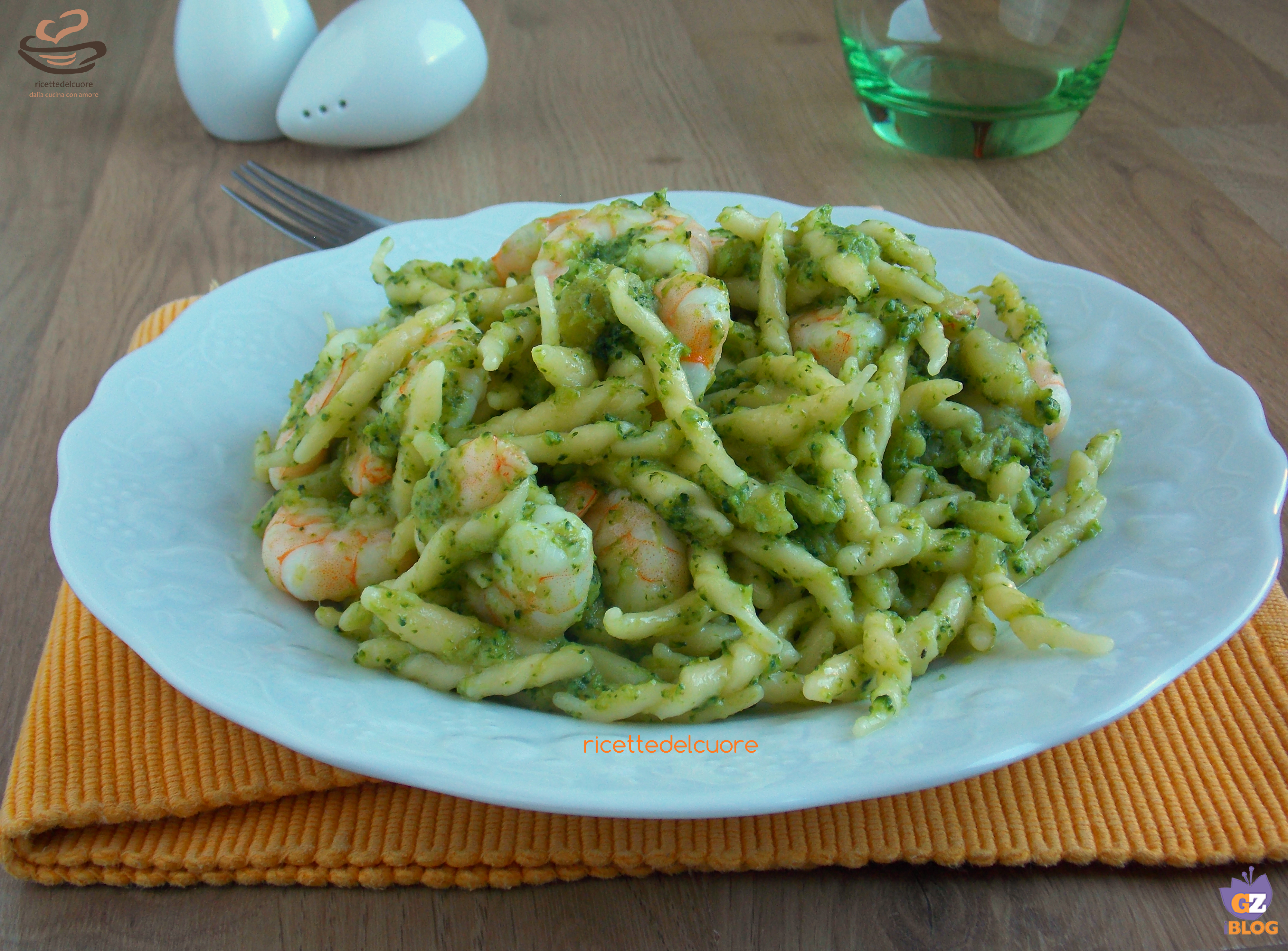 Trofie con broccoli e gamberetti