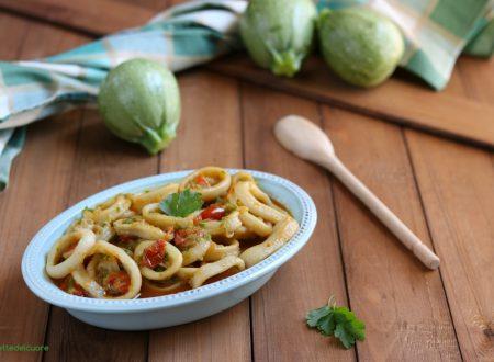Anelli di totano con zucchine in umido