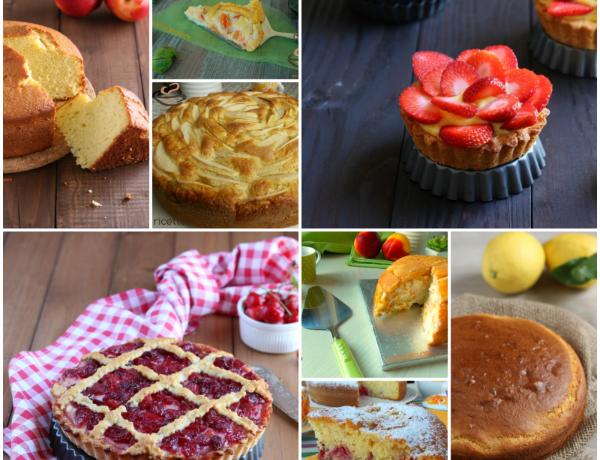 Raccolta di dolci con la frutta