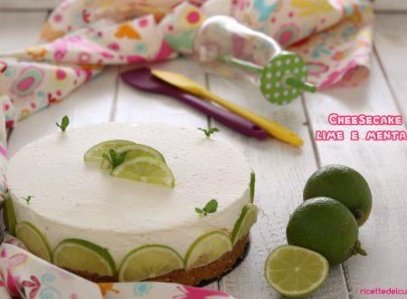 Cheesecake al lime e menta