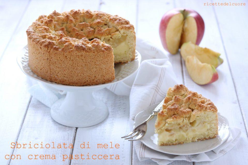 Sbriciolata di mele con crema pasticcera