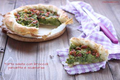 Torta salata broccoli pancetta e scamorza