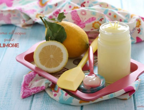 Crema all'acqua gusto limone