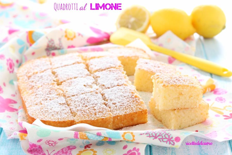 Quadrotti al limone