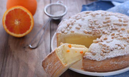 Torta della nonna con crema all'arancia