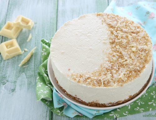 Cheesecake cocco e cioccolato bianco