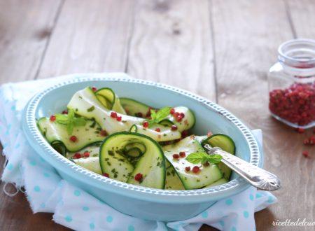 Zucchine marinate al pepe rosa