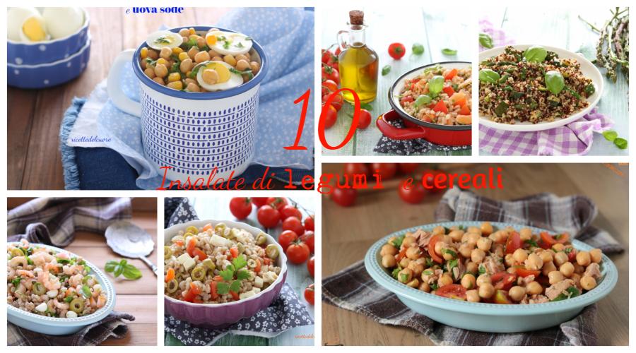 Insalate di legumi e cereali