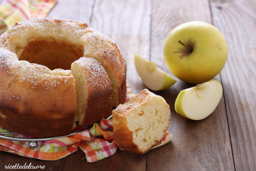 Ciambella ricotta e mele