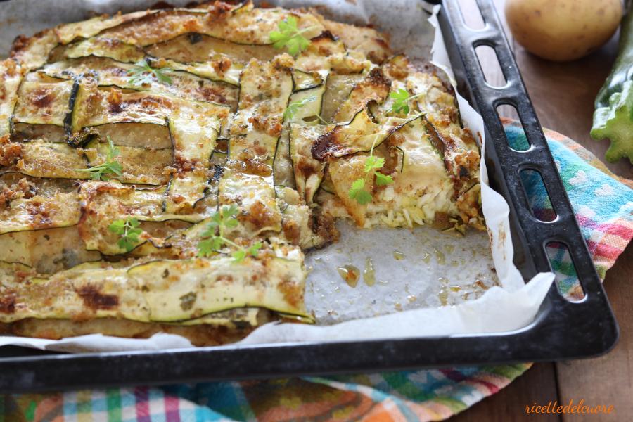 Filetti di branzino in crosta di verdure